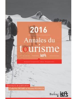 Annales du tourisme 2016
